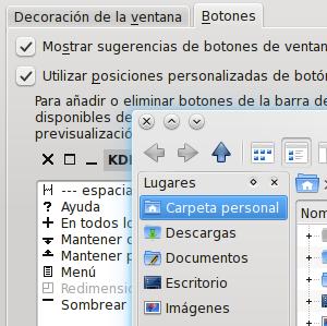 Modificar la posición de los botones de las ventanas en KDE SC
